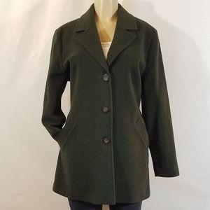 Kristen Blake Forest Green Lambswool Coat